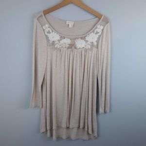 Meadow Rue Boho Embroidered Blouse Small